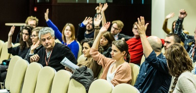 audience members at the Europa International conference in Tallinn