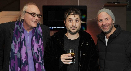 Harmony Korine (centre) with producers Chris Hanley and Jordan Gertner