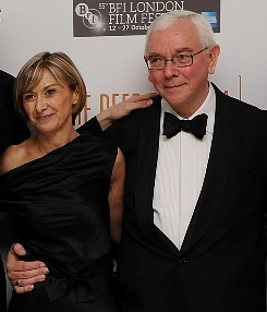Sandra Hebron with Terence Davies at LFF 2011 closing night