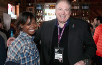 AFI FEST director Jacqueline Lyanga and British Film Commission CEO Adrian Wootton at We Are UK Film reception, Sundance 2016