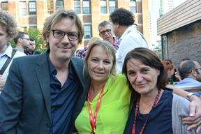IFFR head Rutger Wolfson with IFFR Live! Partners Susan Wendt of TrustNordisk and Nelleke Driessen of Fortissimo Films