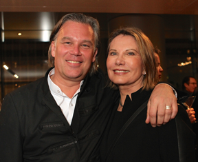 Swedish film commissioner Mikael Svensson and Swedish actress Maud Adams
