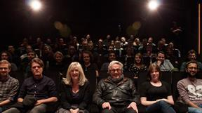 George Miller with NFTS students