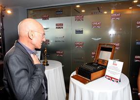 Patrick Stewart surveys the Enigma machine