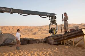 Star Wars The Force Awakens behind the scenes