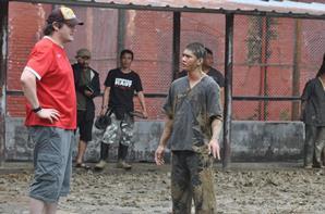 Gareth Evans on set of The Raid 2