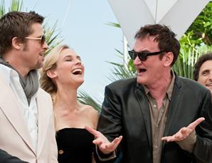 "(L-R) Actor Brad Pitt, actress Diane Kruger, director Quentin Tarantino at the photo call of ""Inglorious Basterds"" at the 62nd Cannes Film Festival in Cannes"