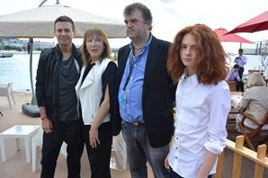 The Darker Than Midnight team in Cannes