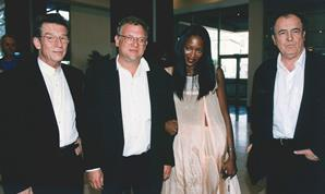 John Hurt Jeremy Thomas Naomi Campbell