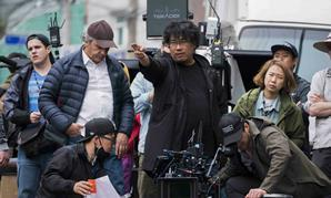 Bong Joon Ho on set of Okja