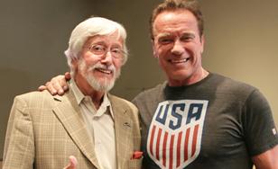 Jean-Michel Cousteau and Arnold Schwarzenegger