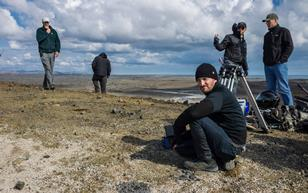 Darren Aronofsky on the set of Noah in Iceland