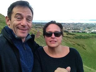 Jason Isaacs and Miriam Segal