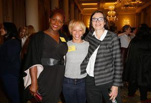 Producer Effie Brown, ChiChi Izundu and Director of Programming and Aquisitions at Picturehouse Cinemas Claire Binns attend The Big Sundance London Party at the Langham Hotel on June 2, 2016 in London, England.