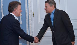 Ted Sarandos meets Juan Manuel Santos
