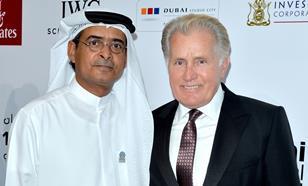 DIFF festival director Abdulhamid Juma with Martin Sheen