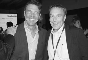 Lewis Tice and Dennis Quaid at the TrueSpark launch party