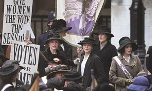 On the set of Suffragette