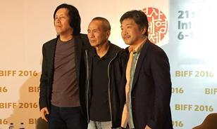 Lee Chang-Dong, Hou Hsiao-hsien and Hirokazu Kore-eda
