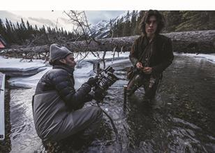 Emmanuel Lubezki on the set of The Revenant